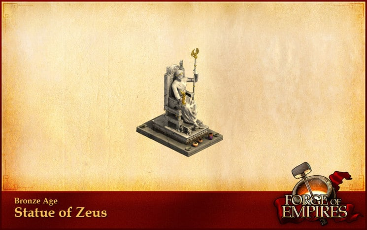 Forge of Empires standbeeld zeus