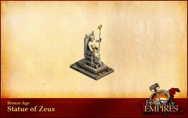 Forge of Empires standbeeld zeus
