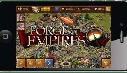 De Forge of Empires app voor mobiele telefoons
