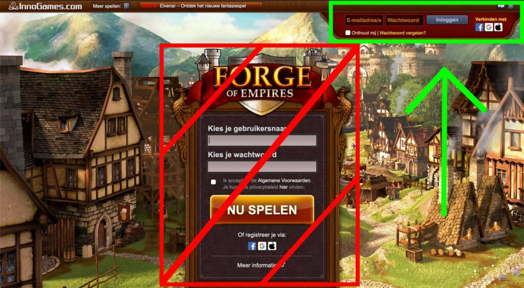 Forge of Empires inloggen